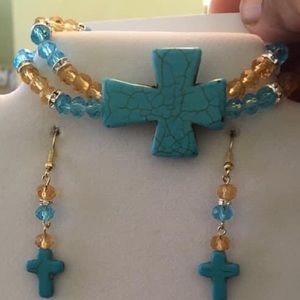 Stone cross bracelets sets 20.00 each